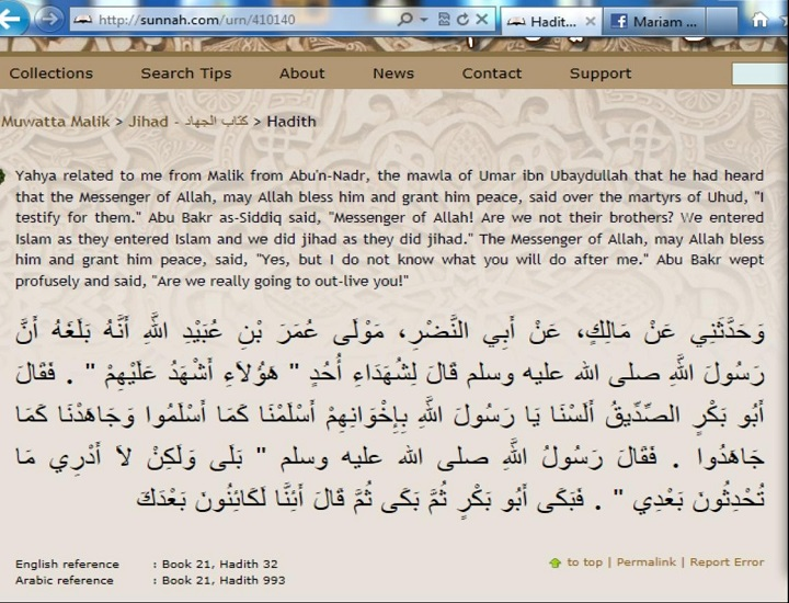 Holy Prophetpbuh did not testify about Abu Bakr