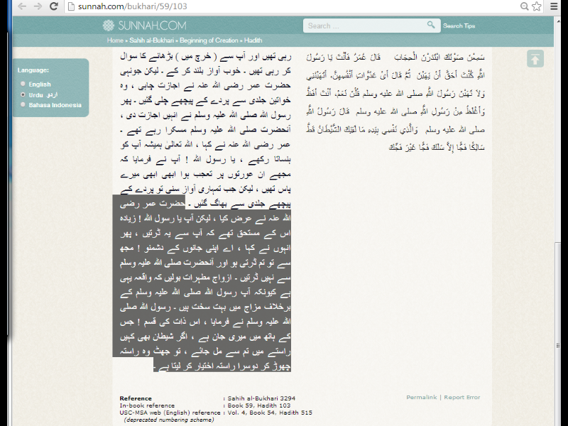 003b Fake narrations for Umar bin Khattab