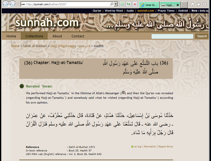 Umar bin Khattab changed the law of Quran and Sunnah