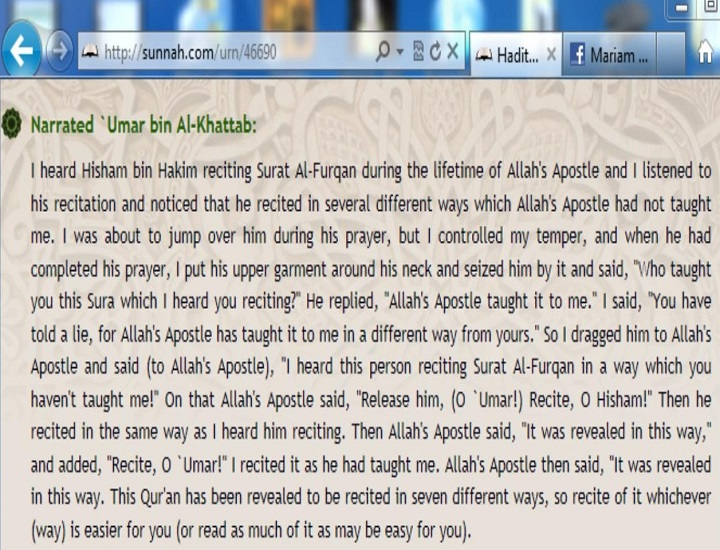 Umar bin Khattab dragged another companion with out any reason